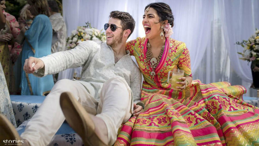 Nick Jonas y Priyanka Chopra en su boda