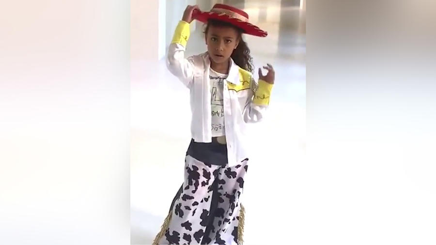 North West en un video musical casero que grabó con Kim Kardashian en mayo de 2019