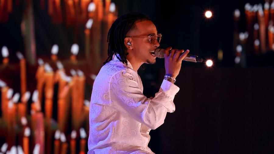 El cantante Ozuna en los Premios Billboard de la Música Latina 2020