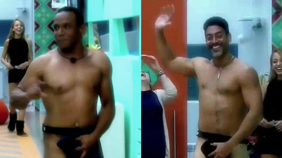 Pedro y Domingo corriendo desnudos por la casa de Gran Hermano