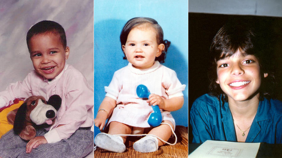 Prince Royce, Thalía y Ricky Martin cuando eran pequeños