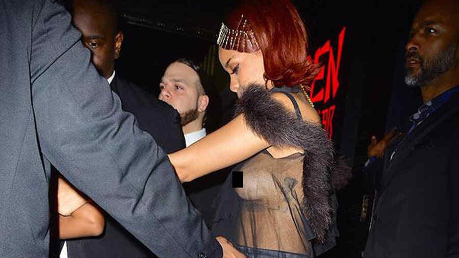 Rihanna después de la gala