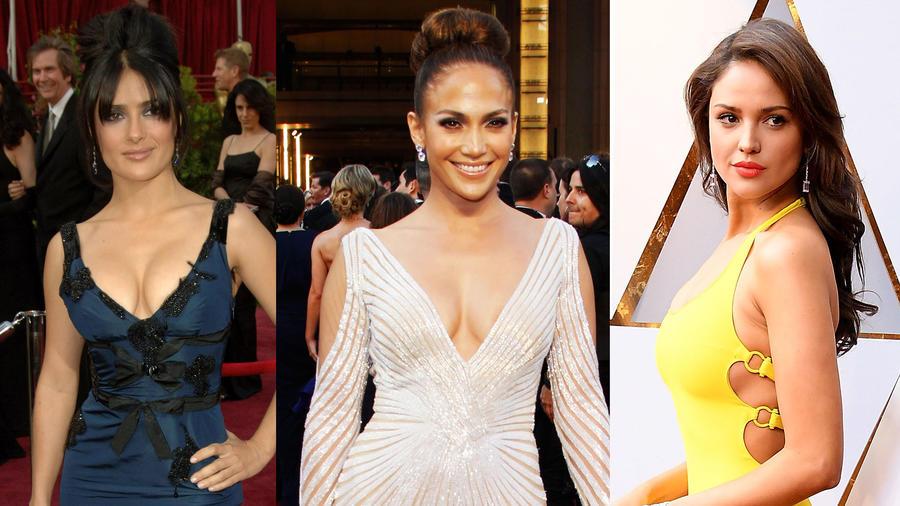 Salma Hayek, Jennifer Lopez y Eiza González en los Oscars