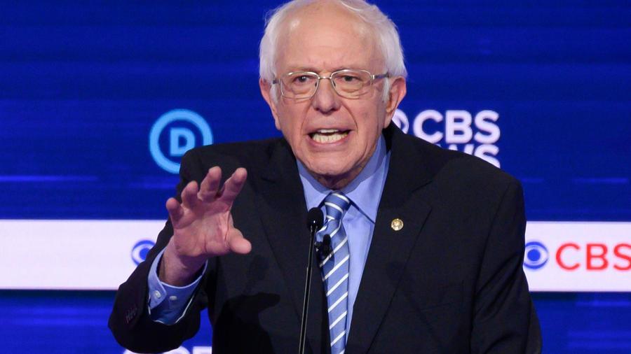 Bernie Sanders, precandidato demócrata, el 25 de febrero de 2020.