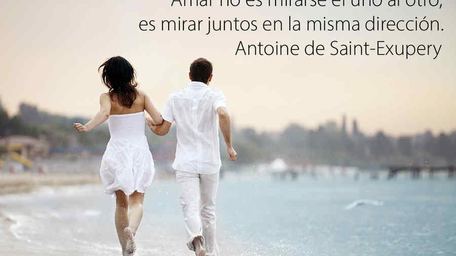 frase de amor de Antoine Saint Exupery