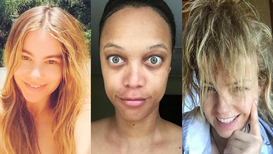 Sofía Vergara, Tyra Banks y Thalía sin maquillaje