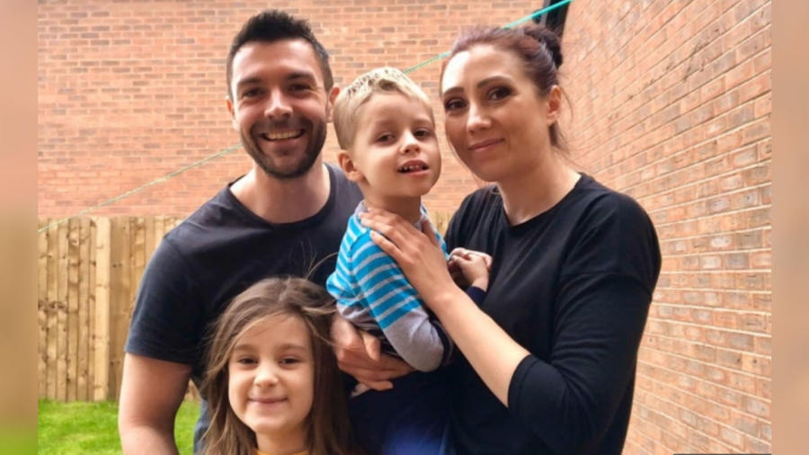 Matt, Jo, Xander y Elora Deeley