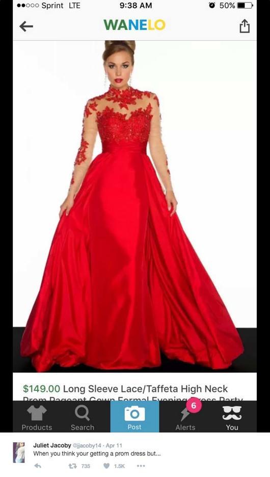 2c470f566658 Compró por internet un bonito vestido para su baile de graduación y ...