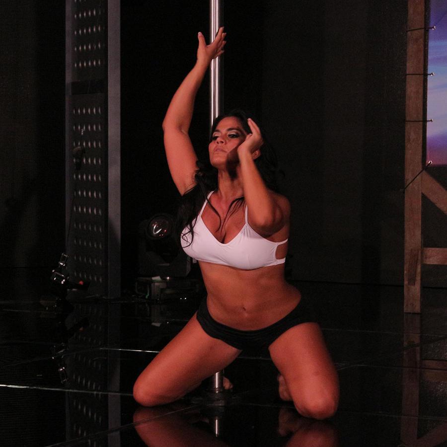 Maripily en los ensayos del Pole Dance en Sí Se Puede