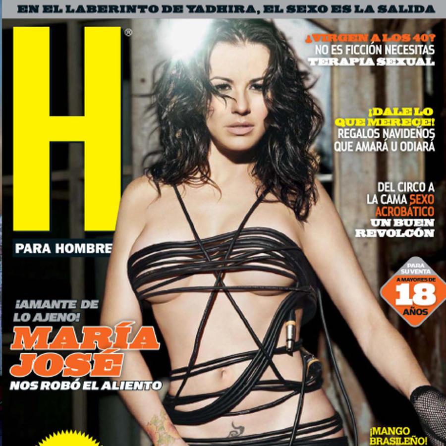 María José ex integrante del grupo Kabah posa desnuda para la revista H