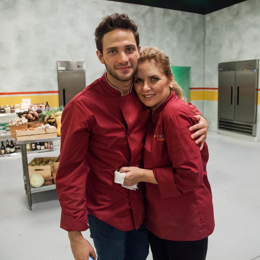 Gabriel Coronel y Judith Grace detrás de cámaras en Top Chef Estrellas