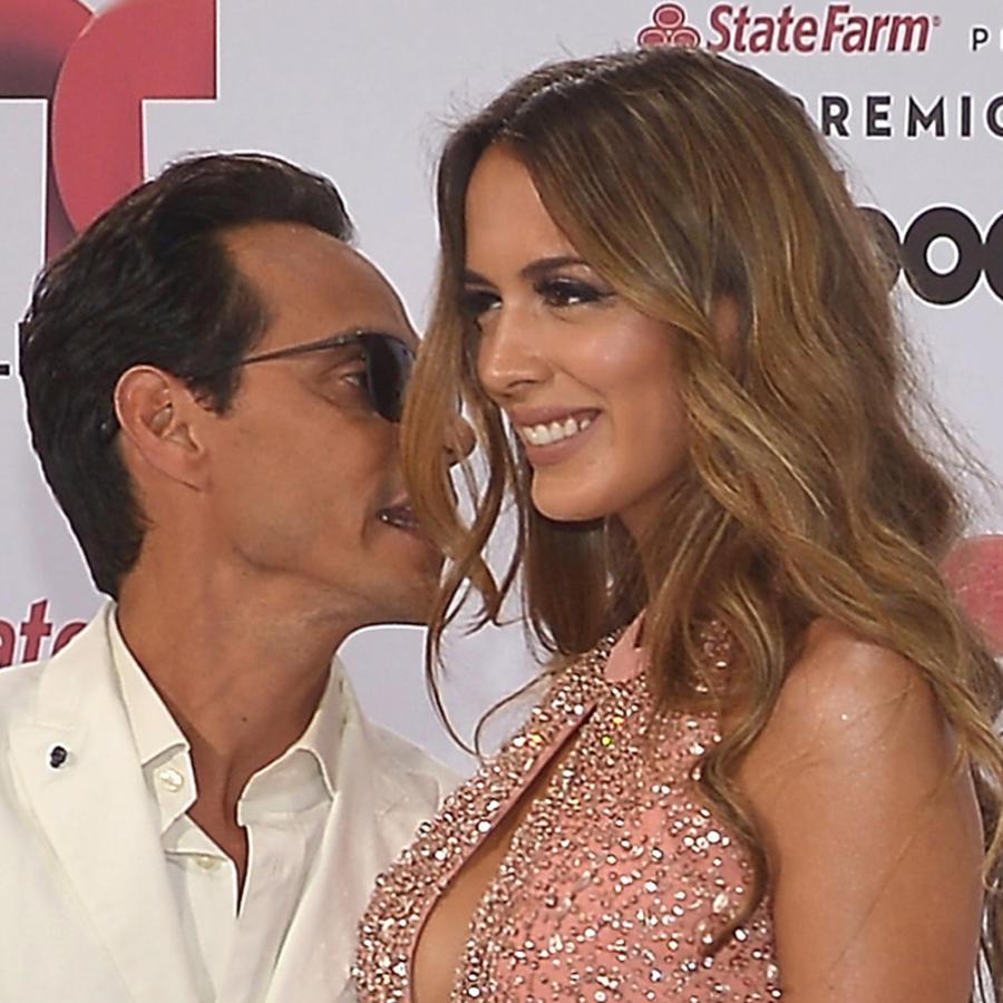 Marc Anthony y Shannon de Lima en la alfombra de Premios Billboard 2015