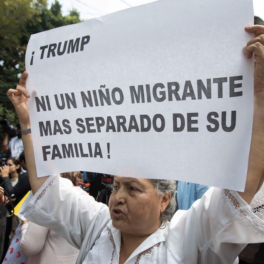 Manifestaciones en contra de la separación de niños inmigrantes en EEUU en una imagen de archivo