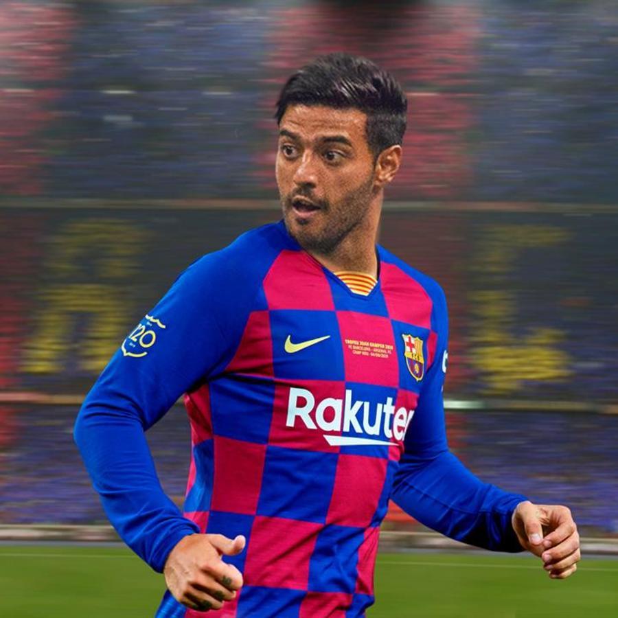 Carlos Vela con la camiseta del Barcelona FC