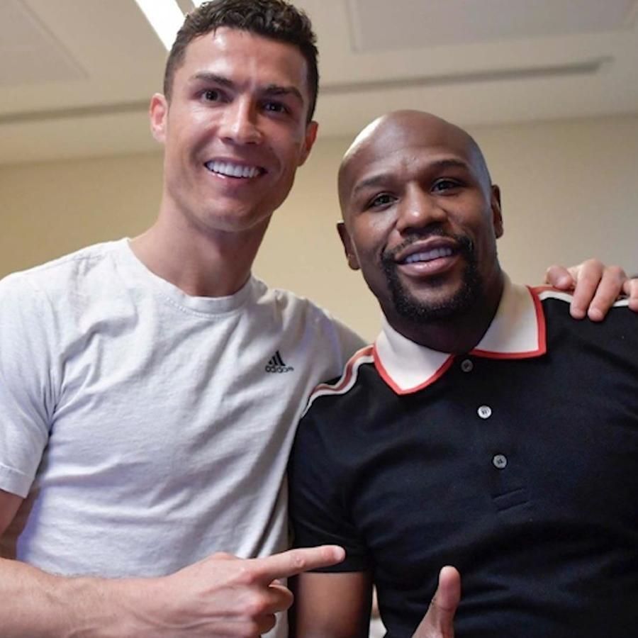 Cristiano Ronaldo y Floyd Mayweather