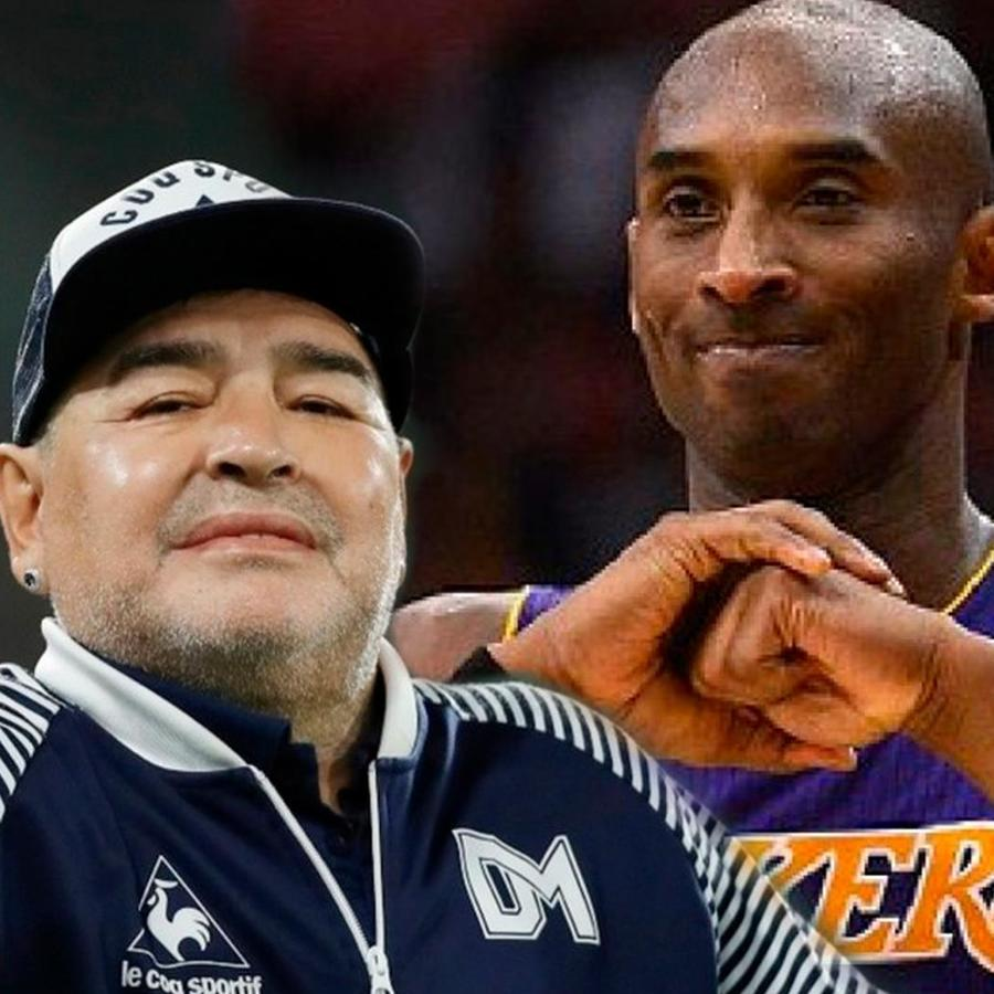 Diego Armando Maradona y Kobe Bryant