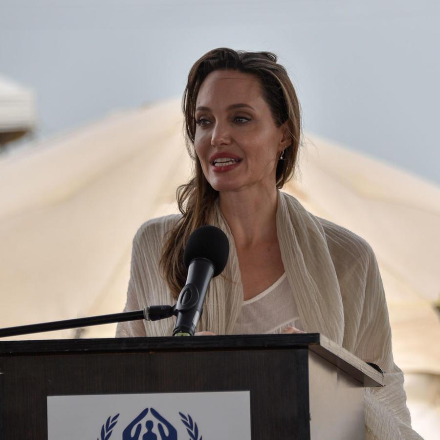 Angelina Jolie en su visita a Colombia en 2019