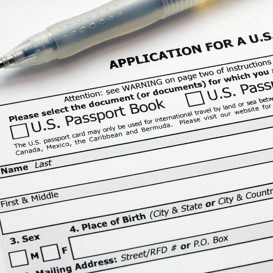 Aplicación para pasaporte en Estados Unidos