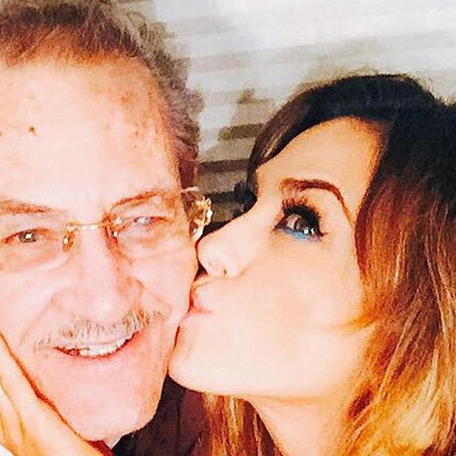 Aracely Arámbula y su papá