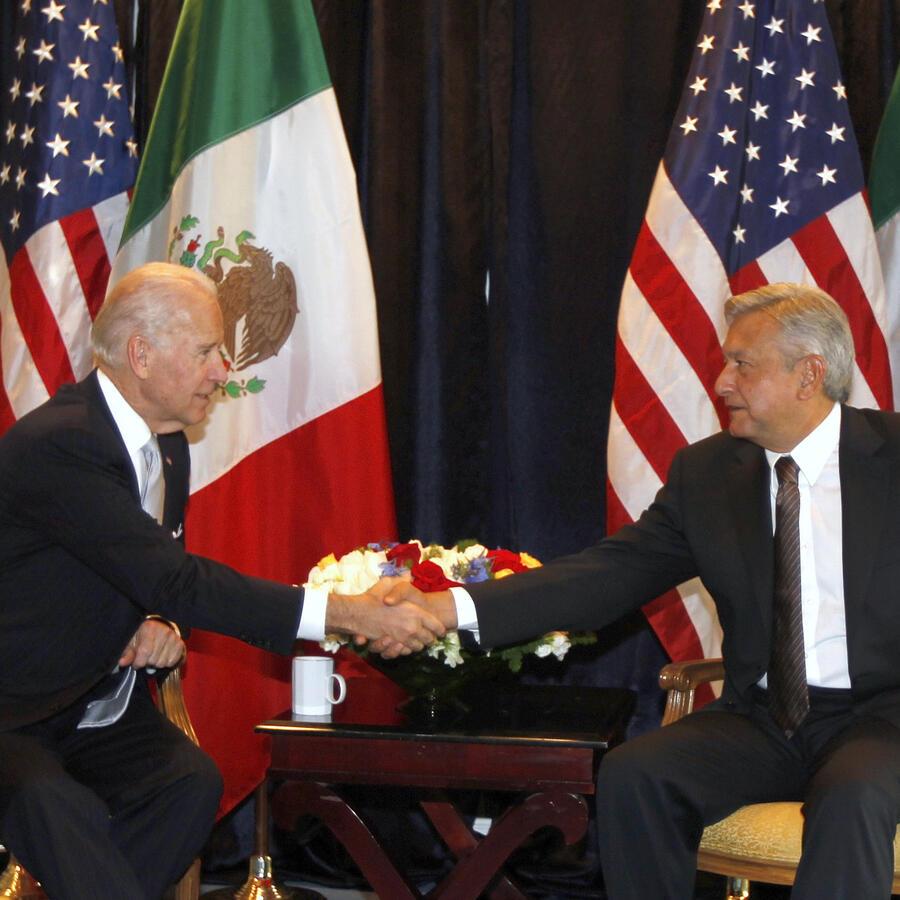 Joe Biden y López Obrador.