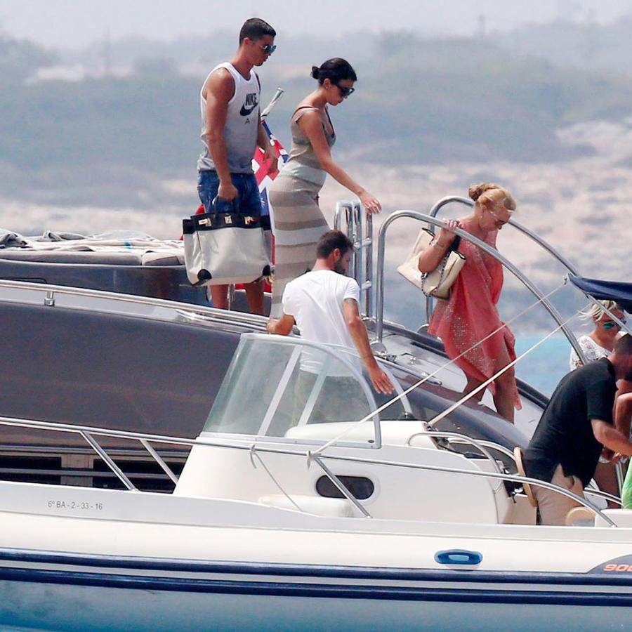 Cristiano Ronaldo con Georgina Rodríguez en Formentera