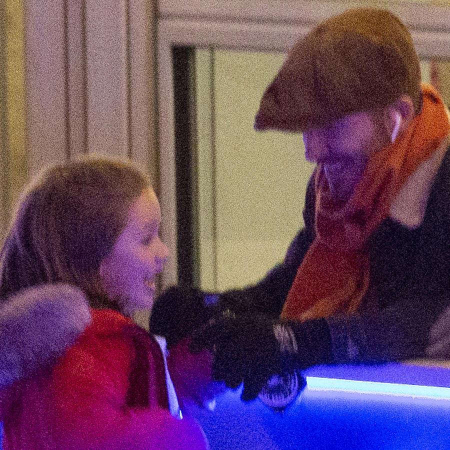 David Beckham y su hija