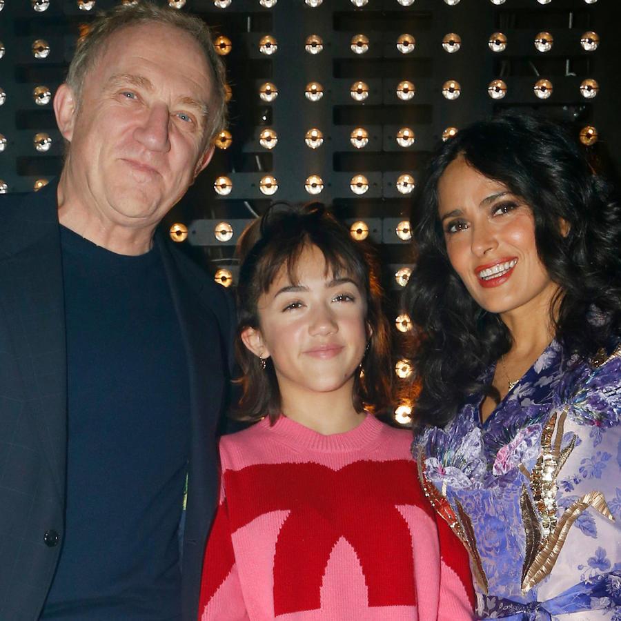 Salma Hayek y su familia