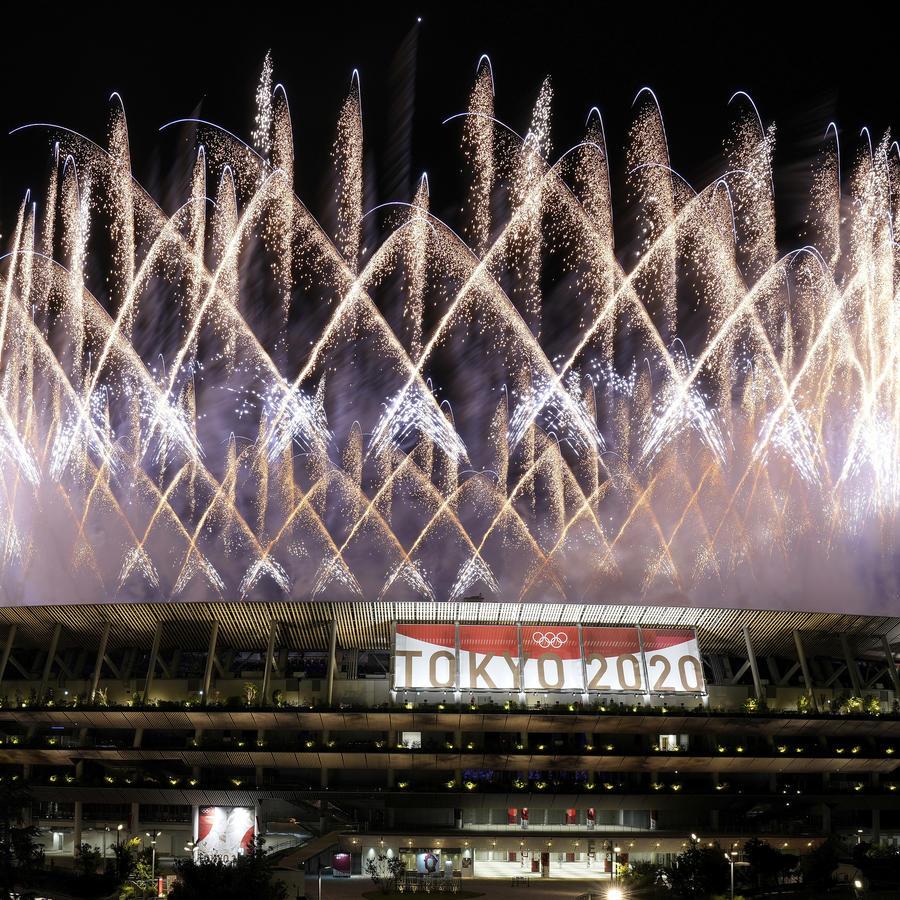 Ceremonia de apertura de los Juegos Olímpicos de Tokio.