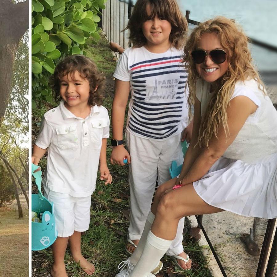 Giovanni Medina y Paulina Rubio con sus hijos