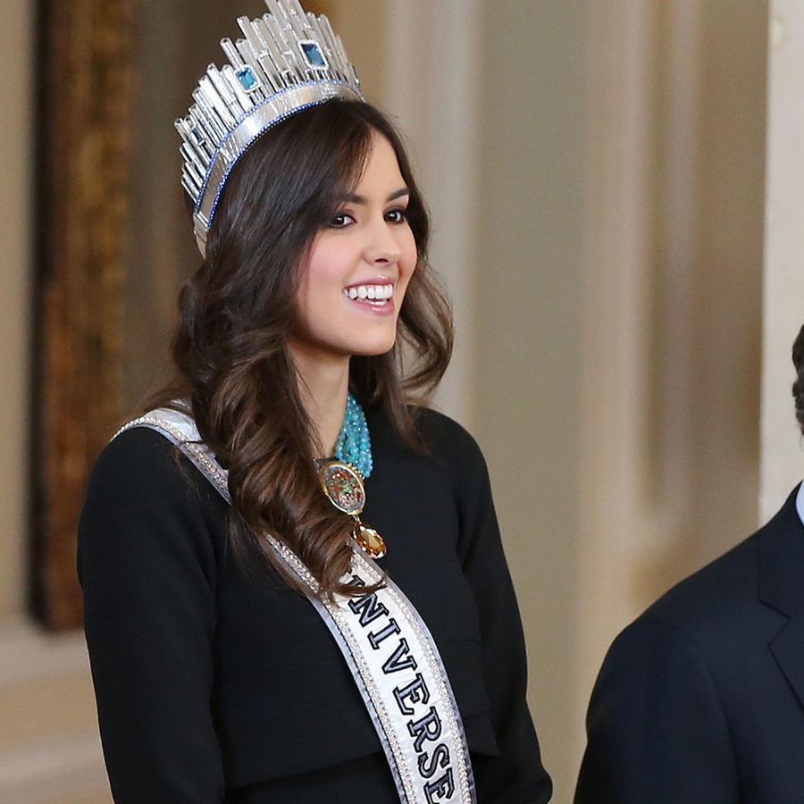 Paulina Vega y Juan Manuel Santos en el Palacio Presidencial