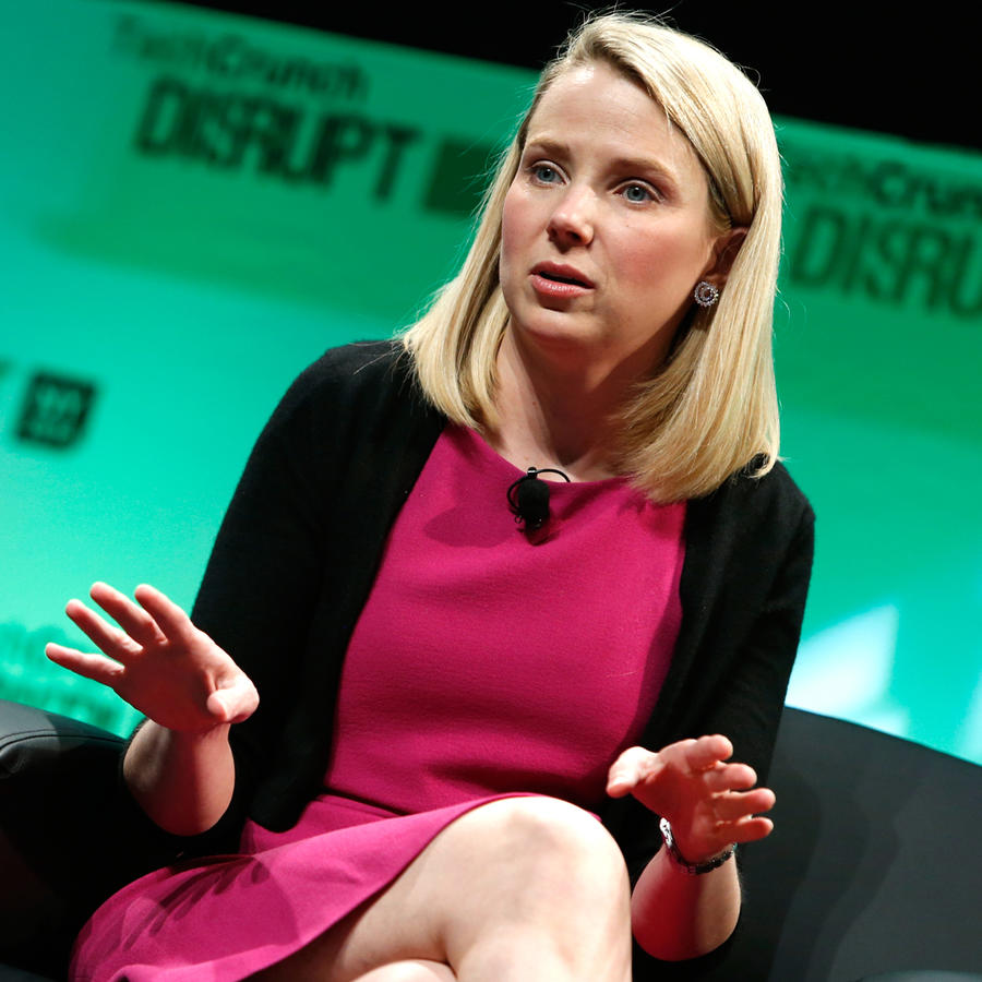 Marissa Mayer, CEO de Yahoo en conferencia de TechCrunch en 2014
