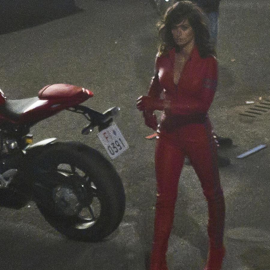 """Penélope Cruz, filmando la película """"Zoolander 2""""."""