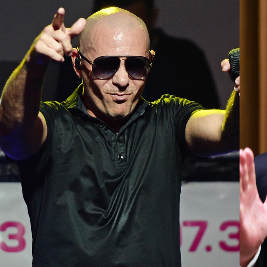 Pitbull y Donald Trump