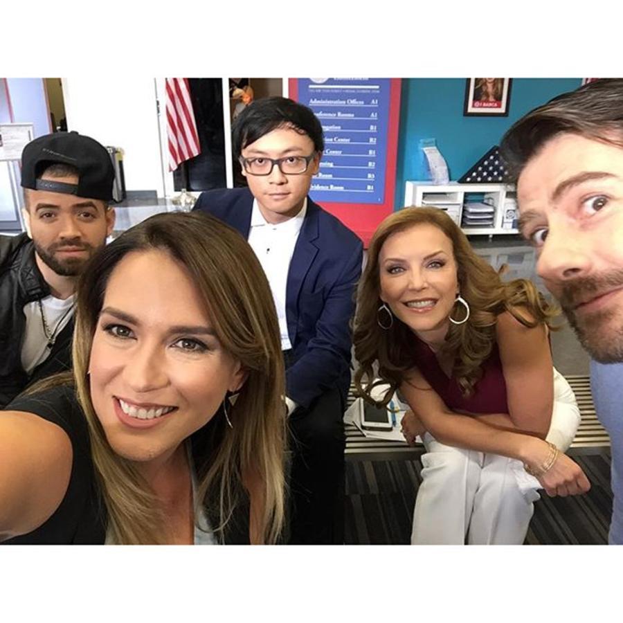 Nacho, Erika de la Vega, Laura Flores y Eduardo Videgaray