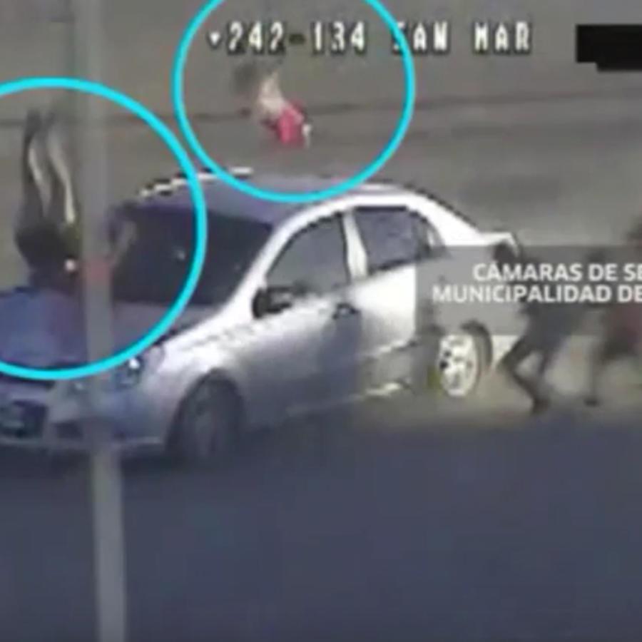 Video de una mujer siendo atropellada con su bebé en Argentina