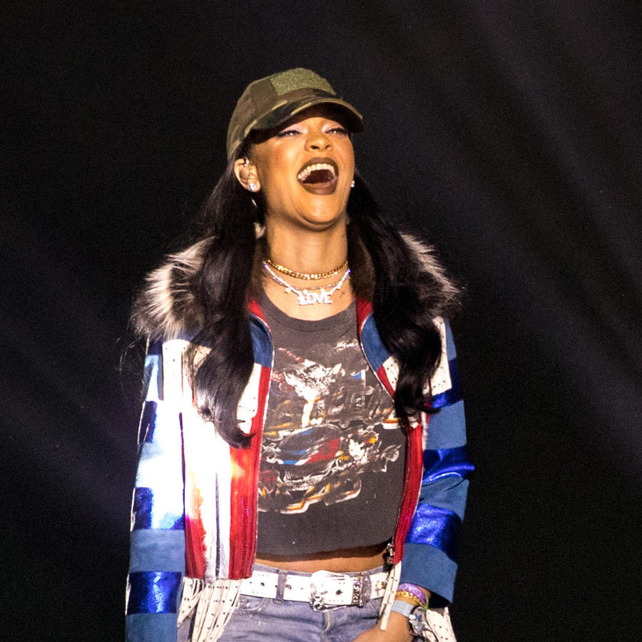 Rihanna en el festival Coachella 2016