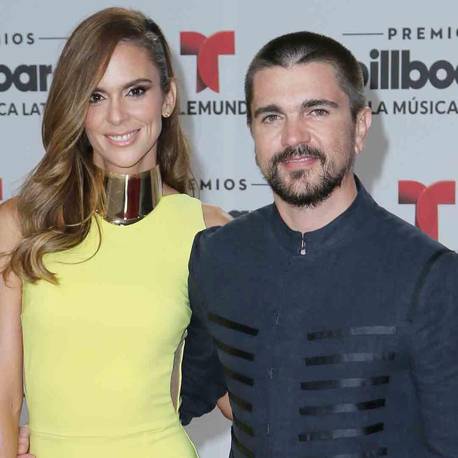 Juanes y Karen Martinez en la alfombra roja de Premios Billboard 2016