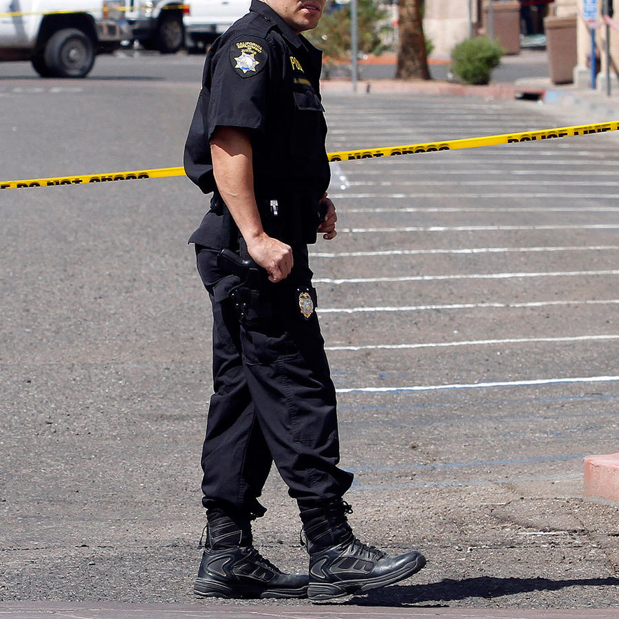 Policía de Calexico, California patrulla las calles de la ciudad