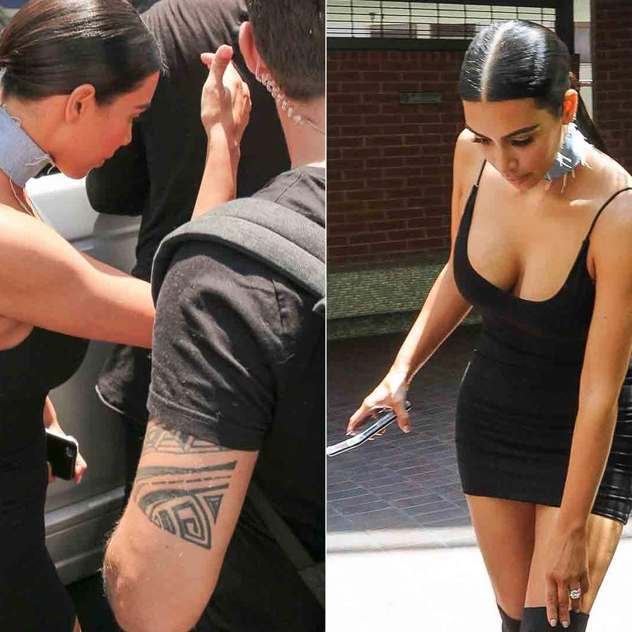 Kim Kardashian lució vestido negro en Los Ángeles