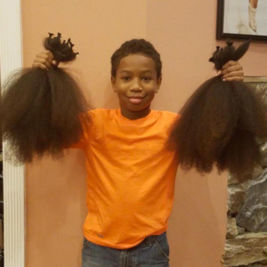 Thomas Morre donó su pelo