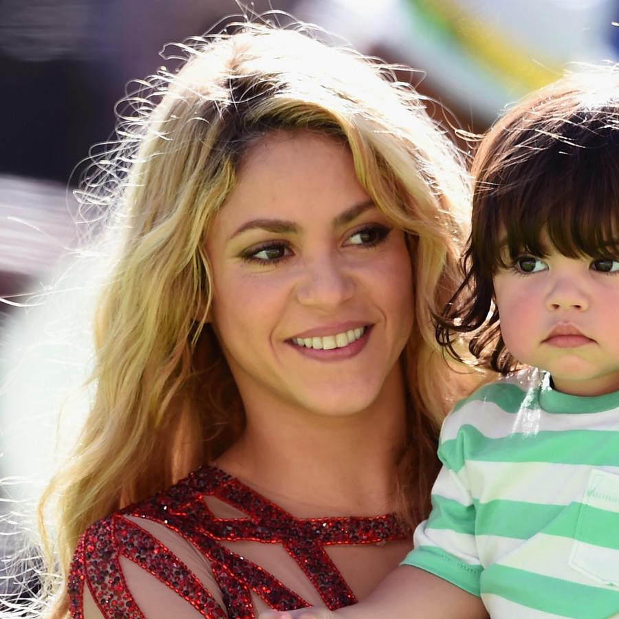 Shakira en Rio de Janeiro con su hijo Milan