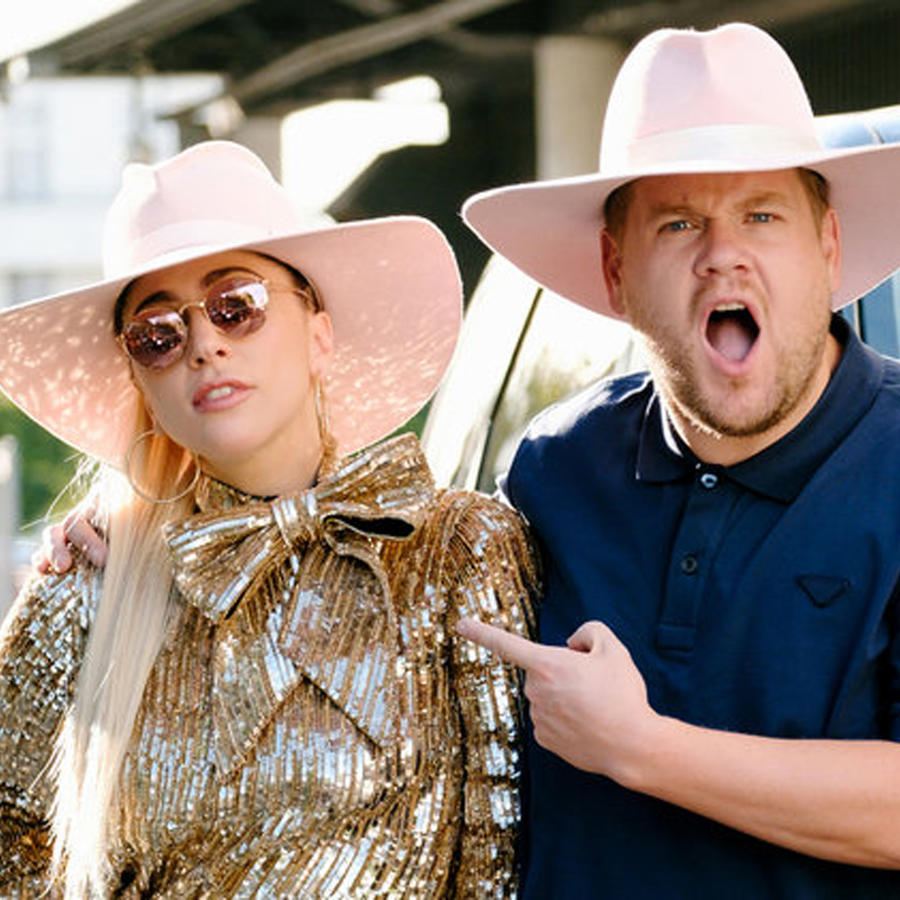 Lady Gaga y James Corden en el Carpool Karaoke