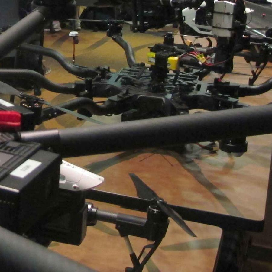 drones en una clase