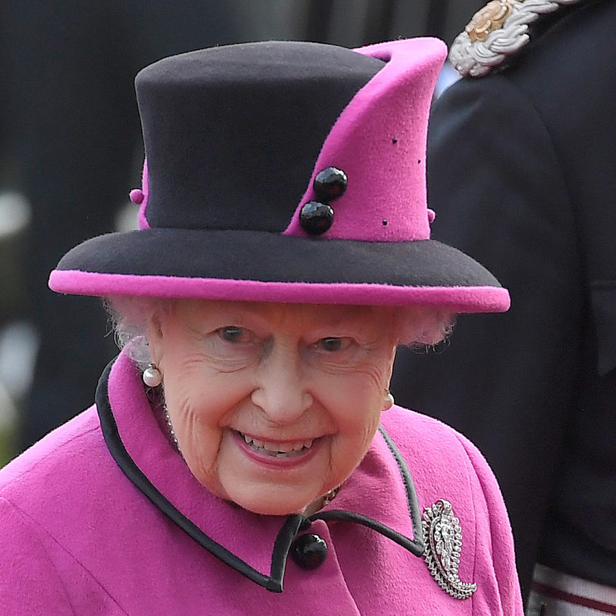 Britain's Queen Elizabeth arrives to view an exhibition on Fiji at the Sainsbury Centre for Visual Arts, University of East Anglia in Norwich, eastern England