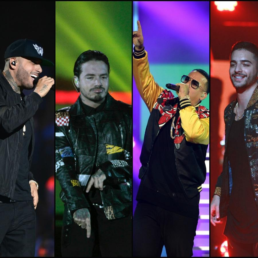 Nicky Jam, J Balvin, Daddy Yankee y Maluma - Collage
