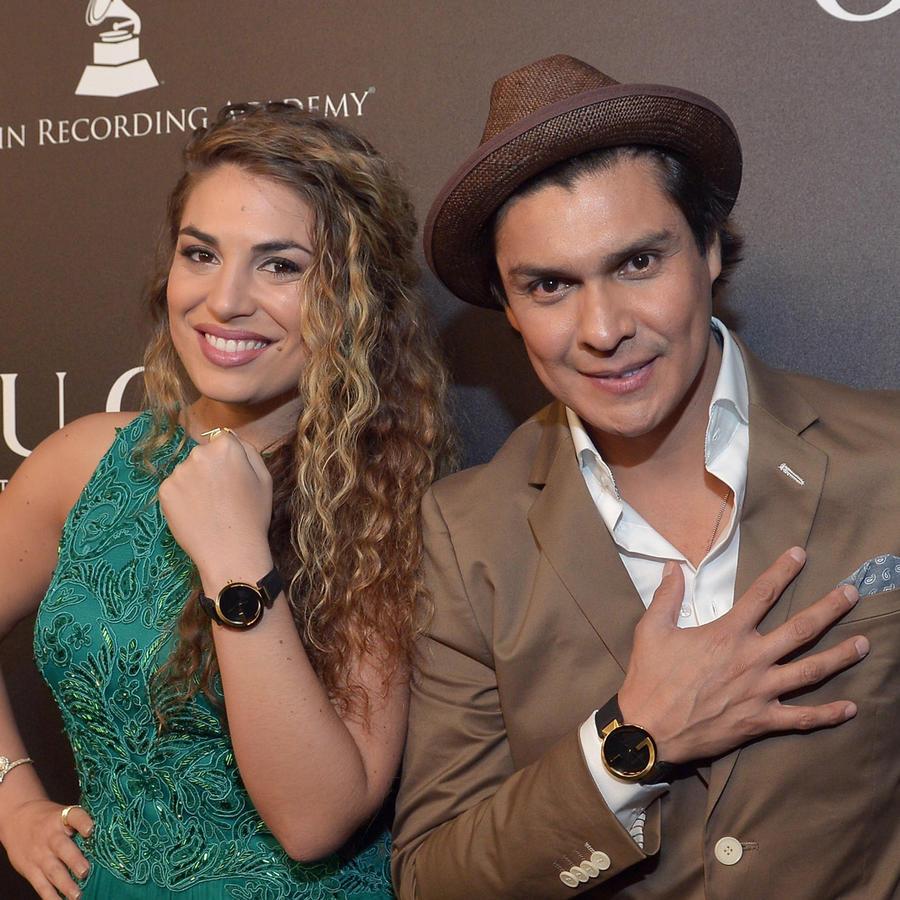Jessi Leon y Periko Leon en el evento a los nominados a Best New Artist en el 2014