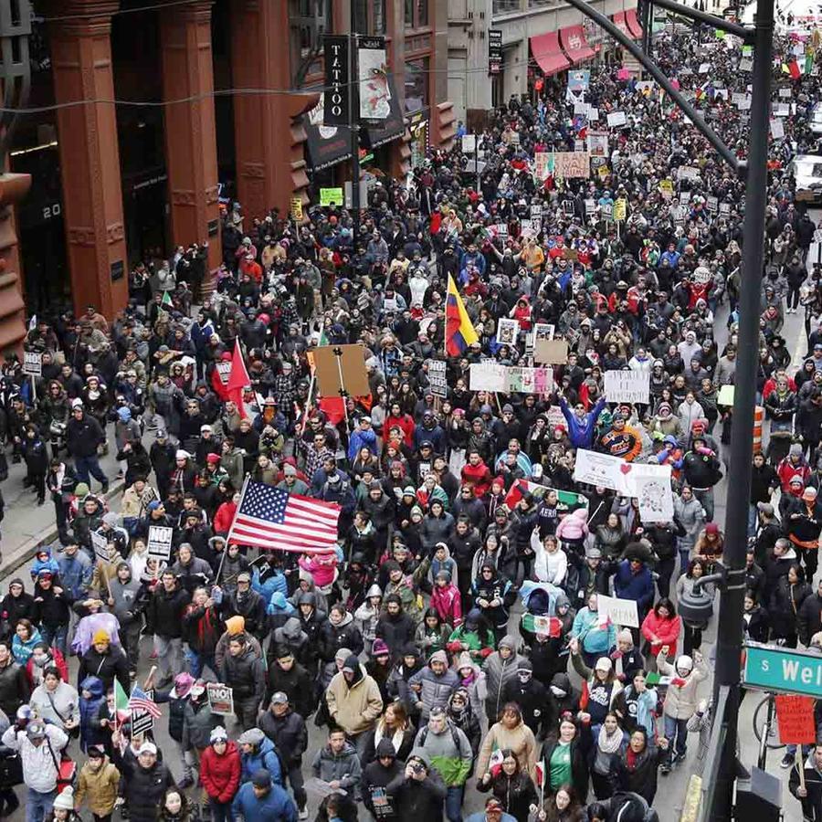 Marchas por el día sin immigrantes