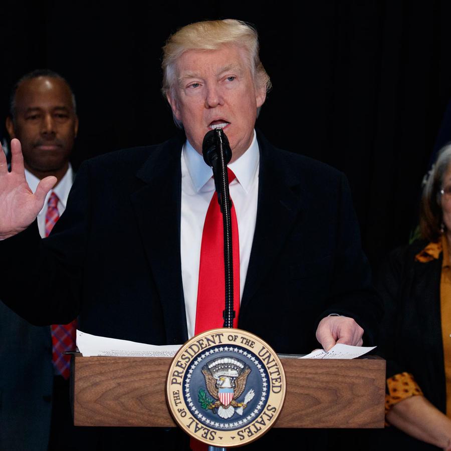 Trump en el museo de historia afroamericana
