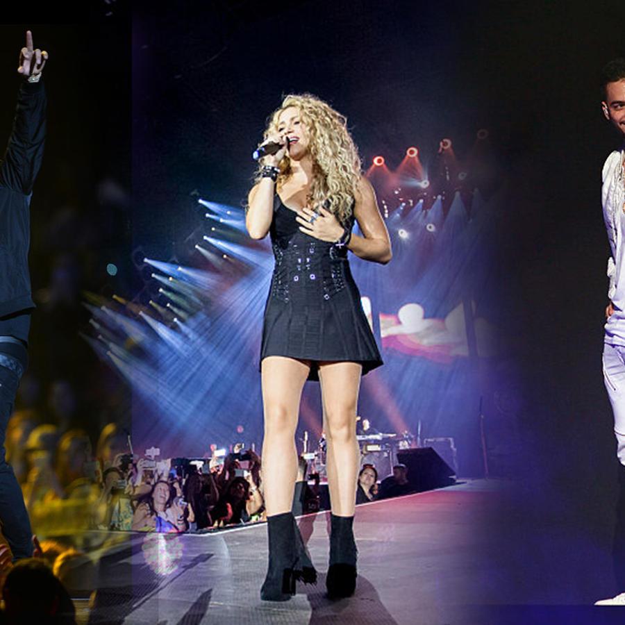 Nicky Jam, Shakira y Maluma cantando