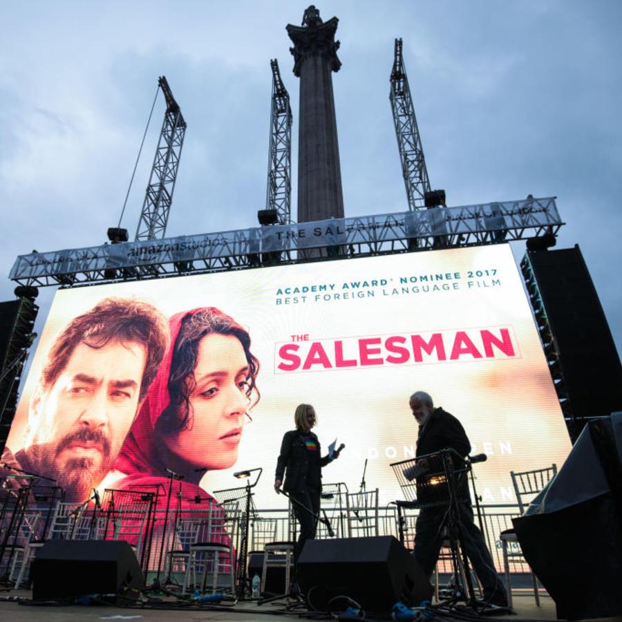 Iranian Film The Salesman Is Shown In Trafalgar Square On Oscar Night